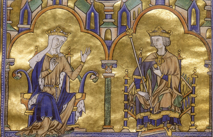 Иллюминированный манускрипт - XIII век. Бланка Кастильская и Святой Людовик. Париж, Франция, между 1227-1234 гг. / Фото: themorgan.org