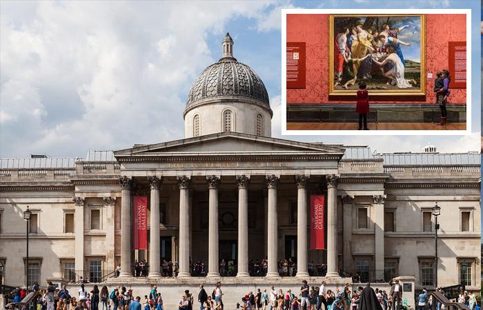 Лондонская национальная галерея и шедевр Джентилески внутри галереи