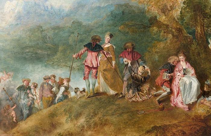 Картина «Паломничество на остров Киферу», фрагмент / фото: artchallenge.ru/