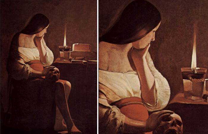 «Магдалина с дымящей свечой» Жоржа де Латура (1638-1640)