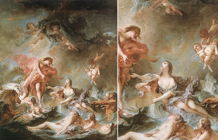 Франсуа Буше «Заход солнца» 1753, Лондон, Коллекция Уоллеса