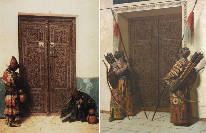У дверей мечети / Двери Тимура (Тамерлана)