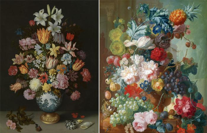 Натюрморты: Амброзиус Босхарт Старший и Ян ван Ос