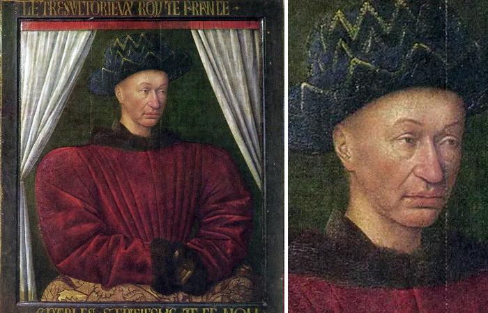 Жан Фуке «Портрет Карла VII» 1444 год