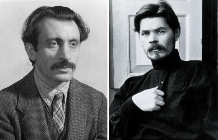 Аршил Горки и Максим Горький