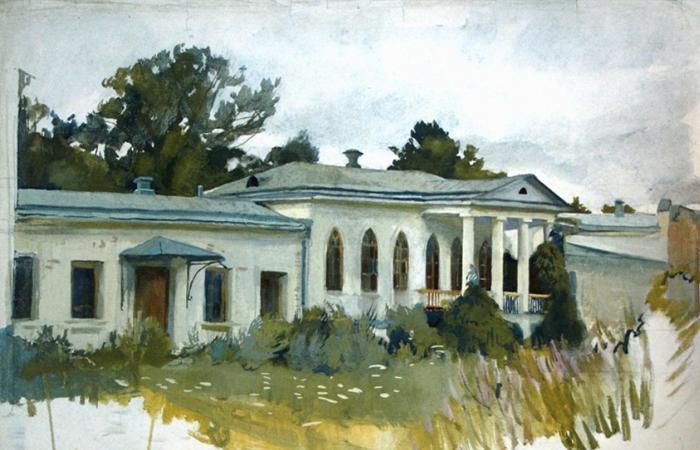 Зинаида Серебрякова. Картина «Дом в Нескучном», 1910 / Фото: veryimportantlot.com