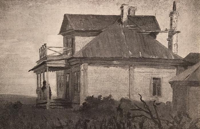 Этюд к картине «Всё в прошлом», масло, 1880-е