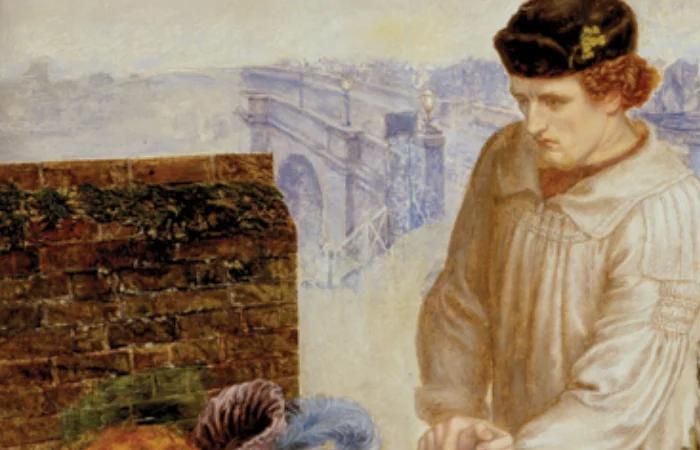 Данте Габриэль Россетти «Найденная», 1851 год. Герои.