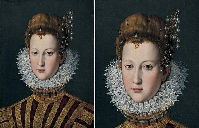 «Мария Медичи в юности» картина Санти ди Тито, ок. 1590.