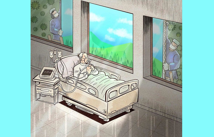 Иллюстрация Алиреза Пакдель / Фото: boredpanda.com