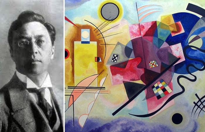 Василий Кандинский: фото и его картина «Желтое-красное-синее», 1925