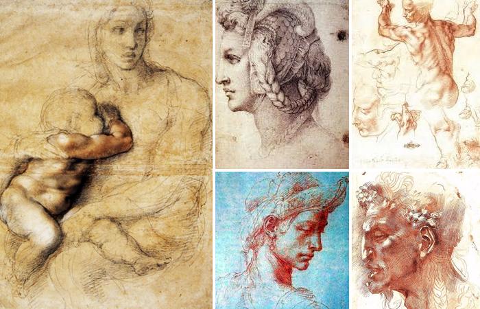 Рисунки Микеланджело