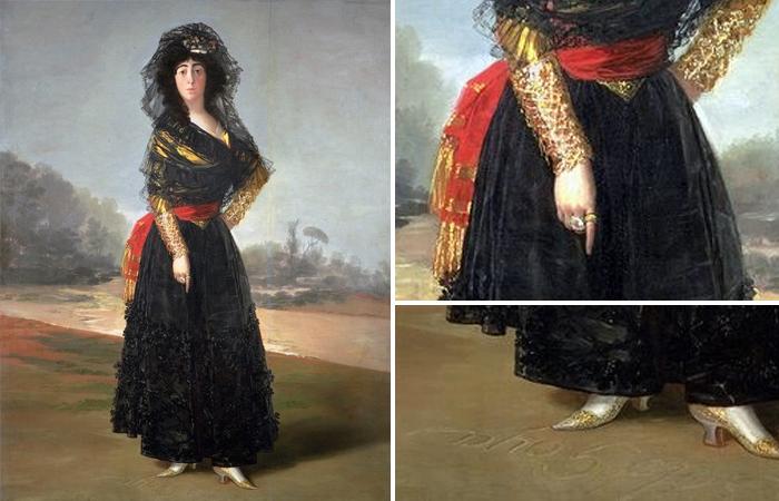Герцогиня Альба в черном, 1797 год