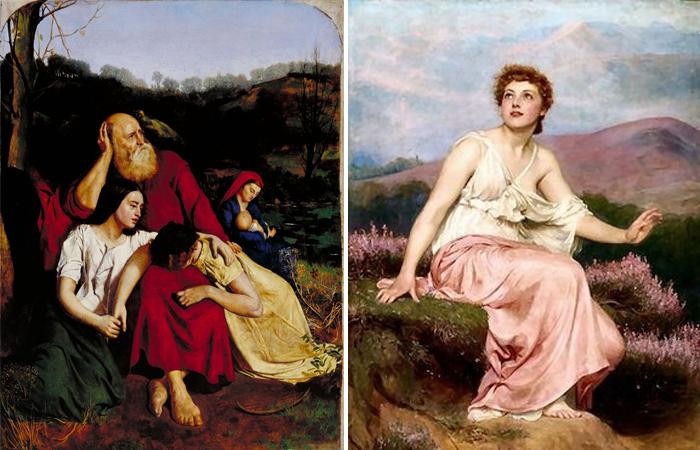 Работы Кальдерона: «У вод Вавилона» (1852) / «Утро» (1884)