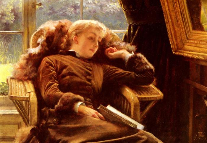 Джеймс Тиссо - Кэтлин Ньютон в кресле