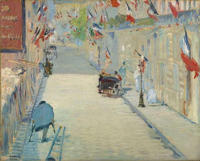 Эдуард Мане «Улица Монье с флагами»