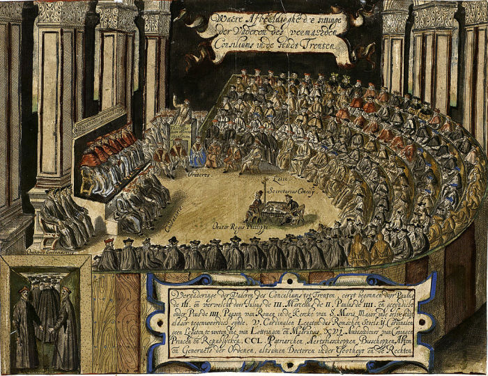 Заседание клириков во время собора