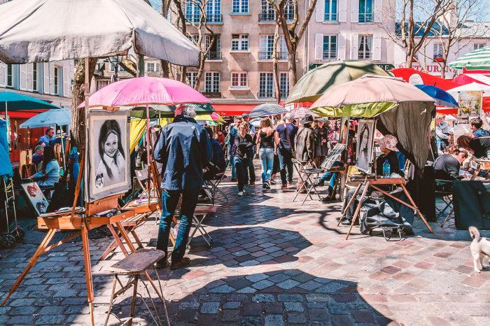 Монмартр и сегодня одно из любимых мест художников.