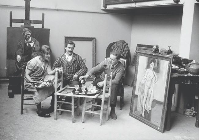 Сюзанна Валадон в мастерской