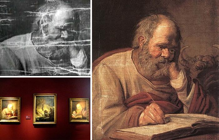 Фрагменты картины Хальса «Святой Лука»