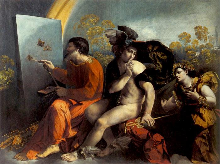 """Юпитер, Меркурий и Доблесть"""