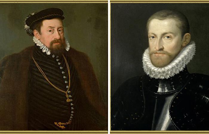Портреты: Императоры Священной Римской империи Максимилиан II и  Рудольф II