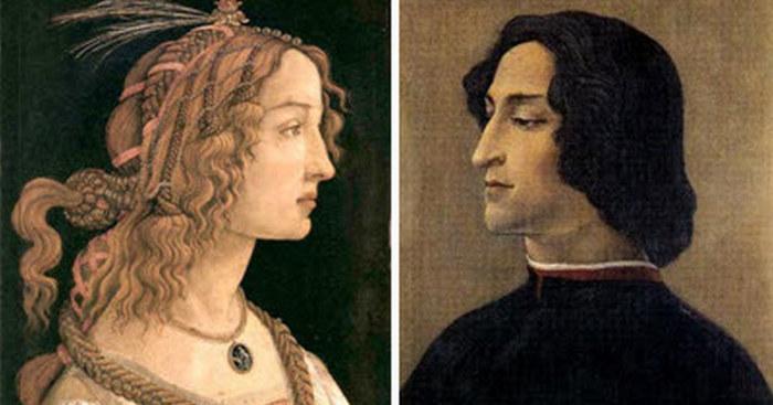 Симонетта и Джулиано Медичи
