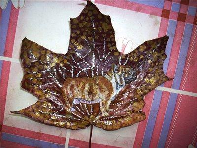 Натуральный кленовый листок