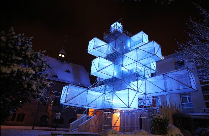 ABIES-Electronicus — пиксельная рождественская елка от 1024 Architecture