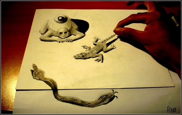 Impressive 3D Drawings Of An Artist Of 17 Years.