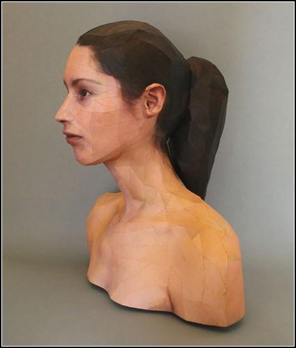 Бумажные 3D-портреты от Берта Симонса (Bert Simons)