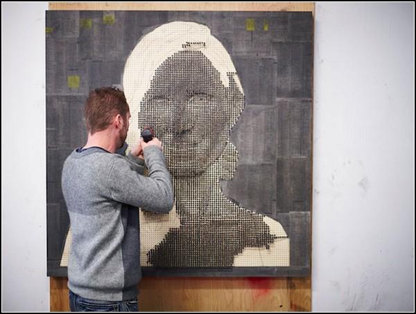 Шурупная живопись от Эндрю Майерса (Andrew Myers)