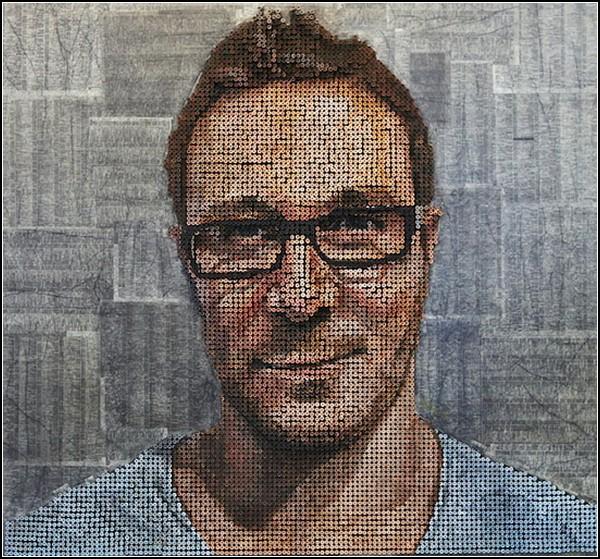 3D портреты из шурупов от Эндрю Майерса (Andrew Myers), Art, картины, портреты из шурупов, портреты, Andrew Myers