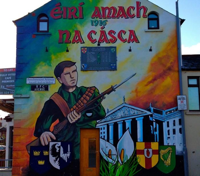 Граффити Белфаста. Памятник недавно закончившейся войны