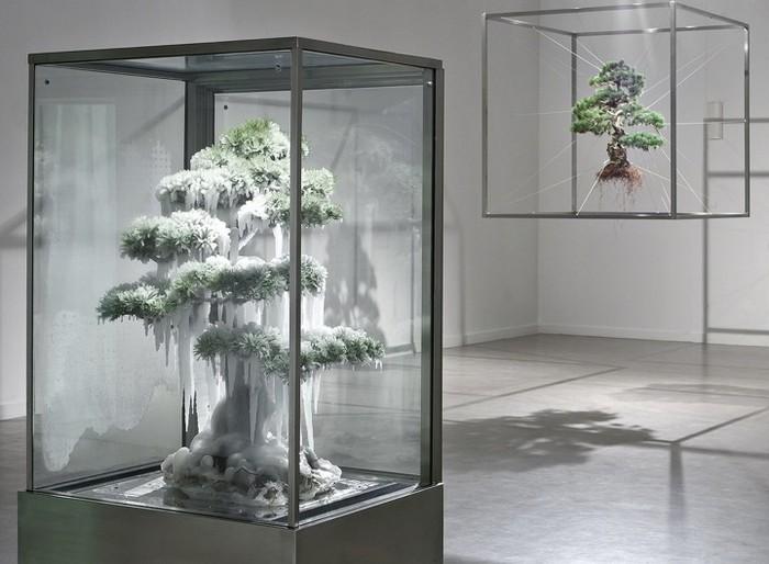 Скульптуры от Макото Азумы (Makoto Azuma) из деревьев бонсай