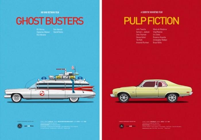 Cars and Films – альтернативные киноафиши от Хесуса Пруденсио (Jesus Prudencio)