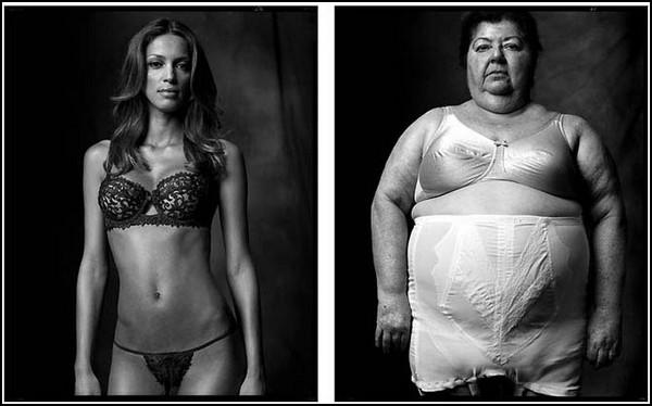 """Модель, демонстрирующая белье / Тучная дама в """"грации"""", 2006/2007 гг."""