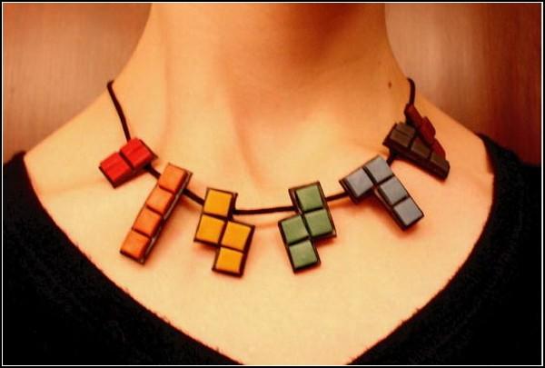 Ожерелье-тетрис