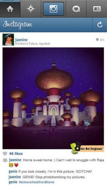 Фотографии от диснеевских героинь в сервисе Instagram
