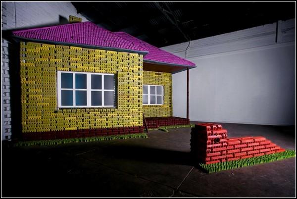 Идеальный дом из яичных коробок