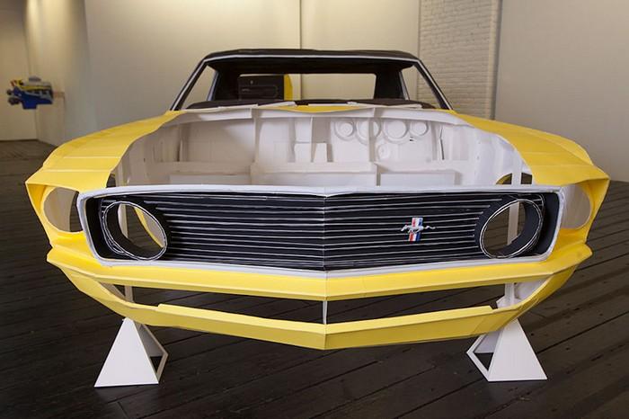 Бумажный Ford Mustang: важна каждая деталь!