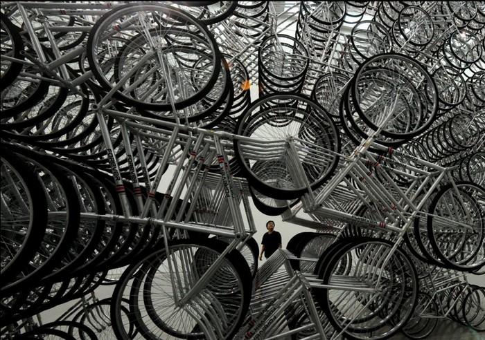 1200 велосипедов в инсталляции Forever Bicycles от Ая Вэйвэя (Ai Weiwei)