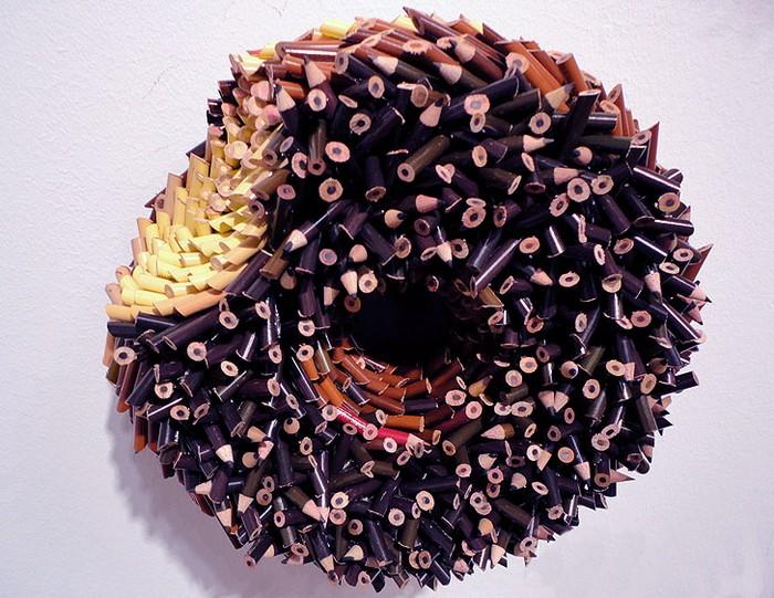 Скульптуры из цветных карандашей от Федерико Урибе (Federico Uribe)