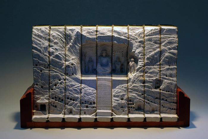 Удивительные книжные скульптуры от Гая Лэрэми (Guy Laramee)