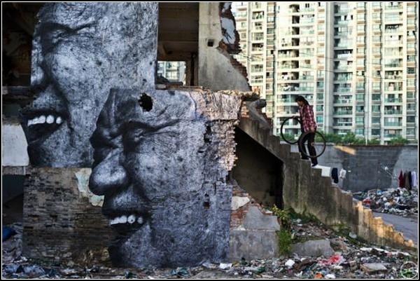 Морщины города. Шанхай, Китай