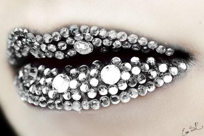Живопись по губам от Евы Сенин Пернас (Eva Senin Pernas)