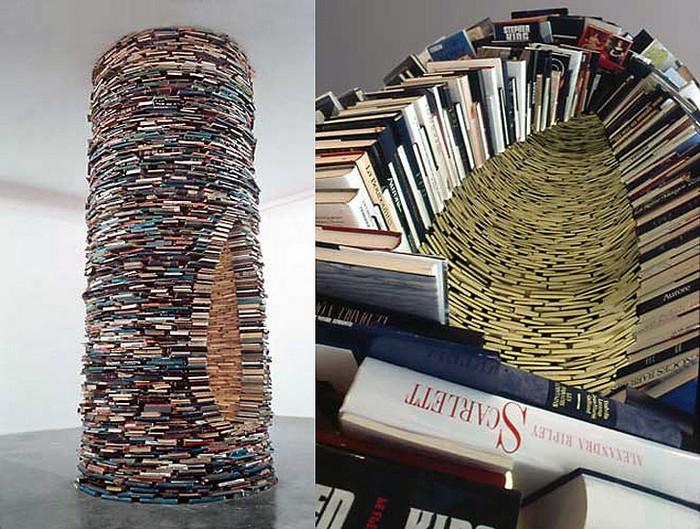 Бесконечная башня из книг Idiom от Матея Крена (Matej Kren)