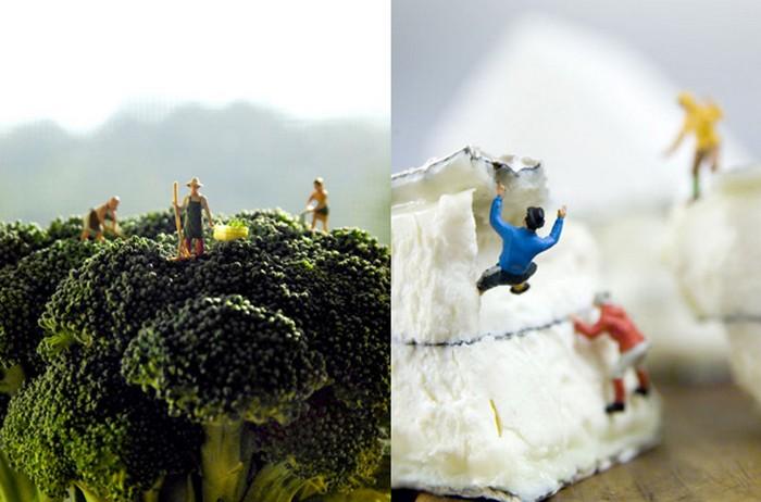 Фантазии о здоровом питании в серии фоторабот Small World от Мэтью Кардена (Matthew Carden)