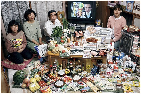 Япония. Семья Укита из Кодаиро. Потрачено $317.25