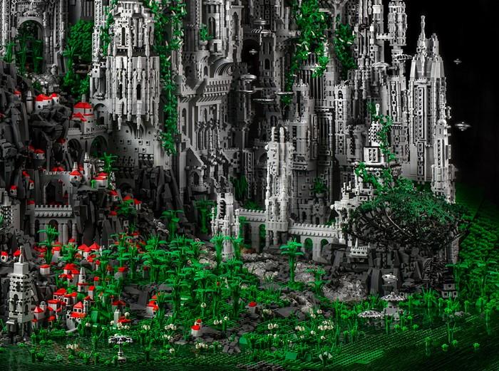 Contact 1 – восхитительный город космической эпохи из LEGO от Майка Дойла (Mike Doyle)
